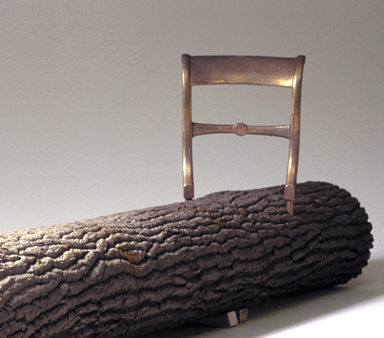 Tree trunk bench bey cid collections for Tree trunk garden bench